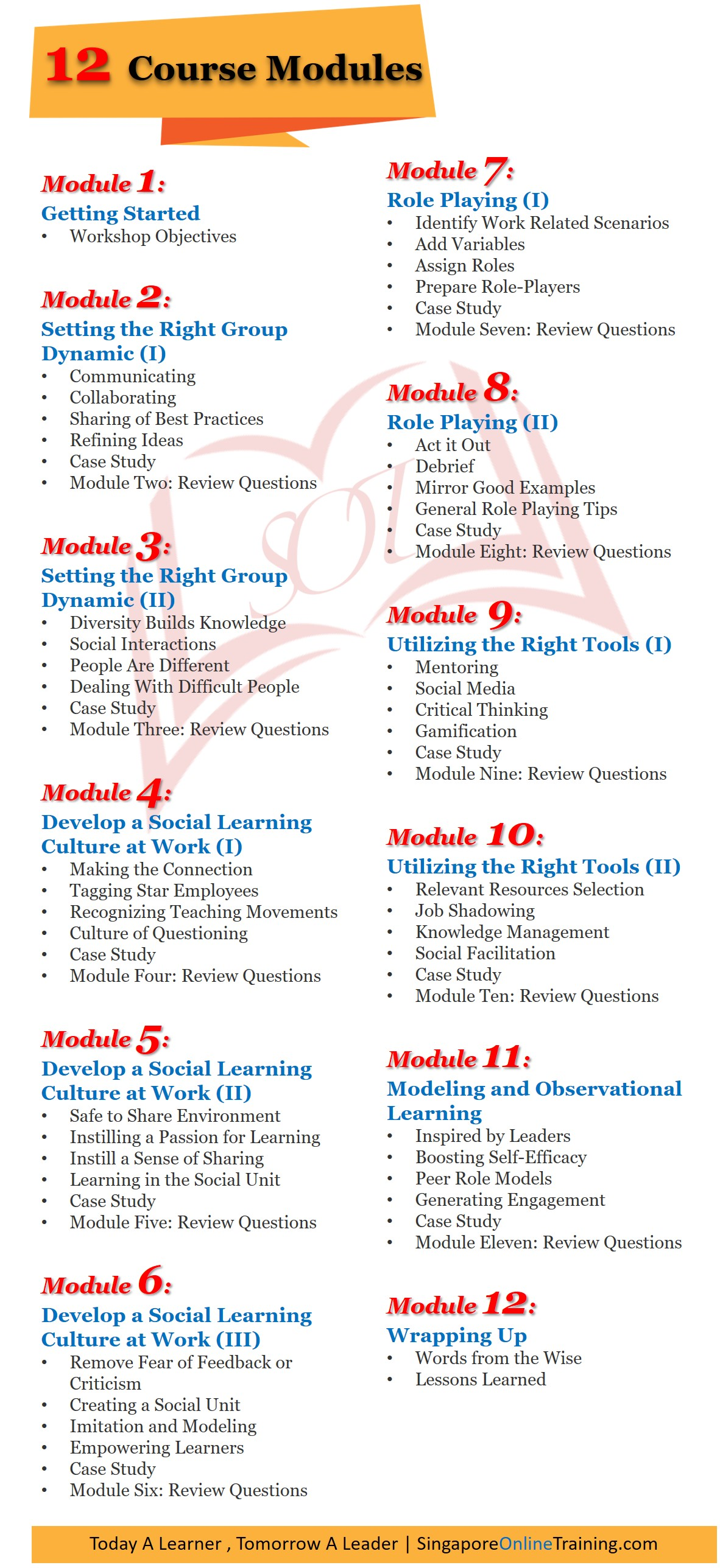 Social Learning Course Modules