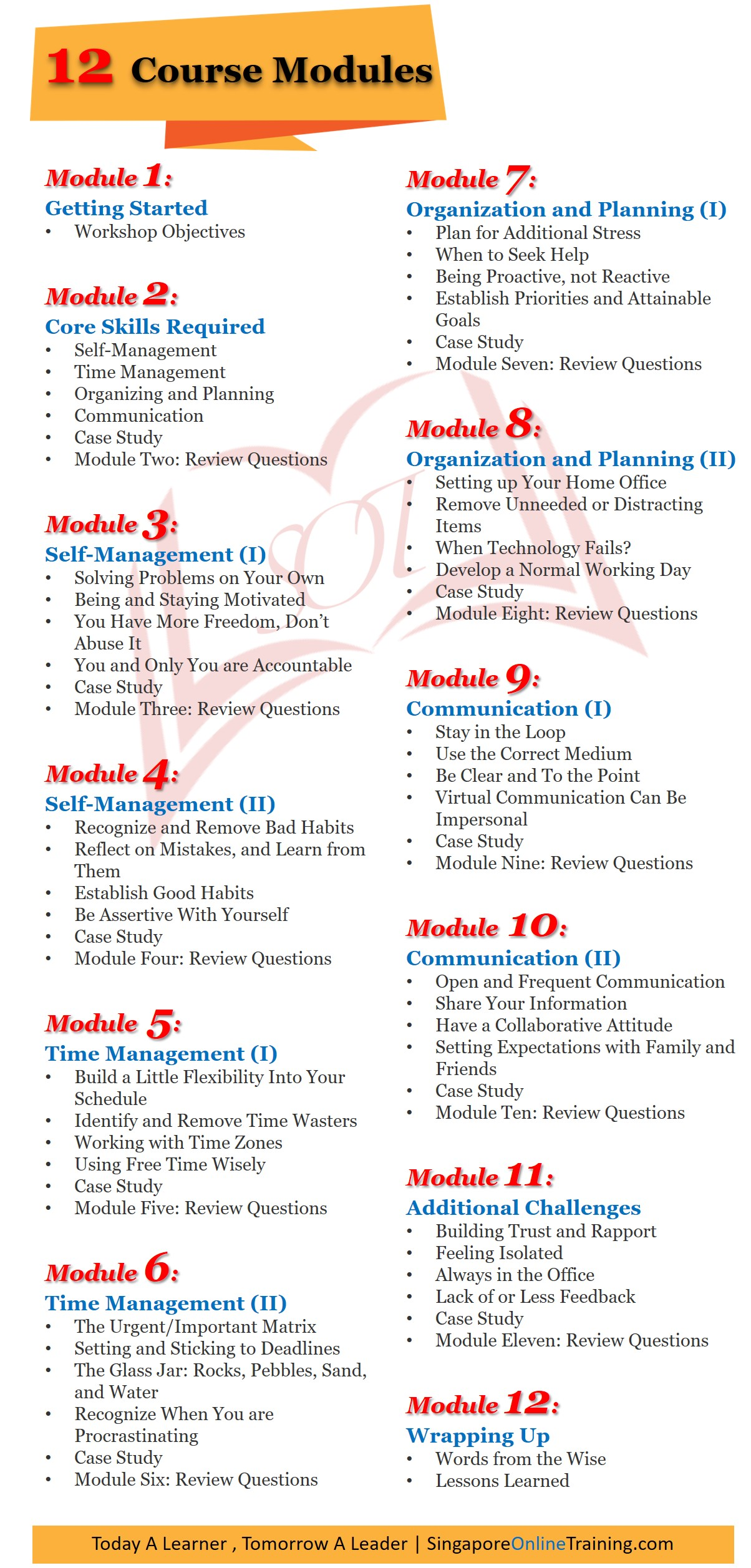 Telework And Telecommuting Course Modules
